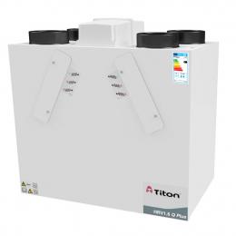 Rekuperatorius TITON HRV1.6 Q Plus BCF Eco kairinis 363m3/h@100Pa, su fitrų durelėmis