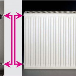 Renovacinis plieninis radiatorius HM 21C-AT-55-1000, prijungimas šoninis