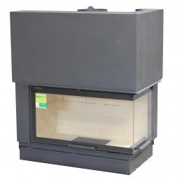 Židinio ugniakuras Axis FH1200PG/WSBlack vientisu kampiniu dešinės pusės stiklu