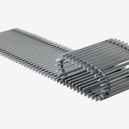 Grotelės įleidžiamam grindiniam konvektoriui GR 240x32 Aliuminis