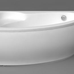 Akmens masės vonios Piccola 1540 dešininė uždanga, balta