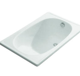 Plieninė sėdimoji vonia Jika RIGA mini, 105 x 70 cm