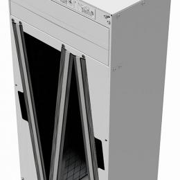 Aktyvuotos anglies filtras vėdinimo sistemai TITON Trimbox NO2 Ø160 dėžė su priešfiltriu ir 3 kasetėmis