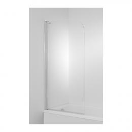 CUBITO Vonios sienelė, varstoma, kairės pusė, plotis 750 mm, profil. sidabr. sp., skaidrus stiklas