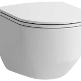 Pakabinamas unitazas Pro Rimless PACK su SLIM Softclose dangčiu (898966) be nuplovimo lanko (360x530x430 mm), baltas