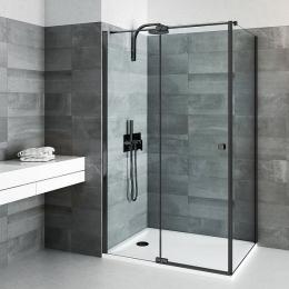 Dušo sienelė BI FXP/800 Black, profilis juodas, skaidrus stiklas