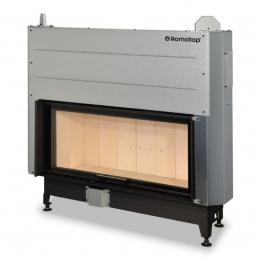 Plieninis židinio ugniakuras KV HEAT H3LG01 110.50.01 su pak. 50x110 cm
