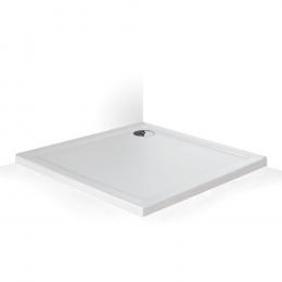 Dušo padėklas Flat Stone Effect 80x80x5 cm, balta spalva