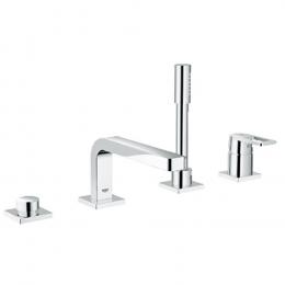 Quadra maišytuvas voniai 4-ių dalių, montuojamas į vonios kraštą, chromas