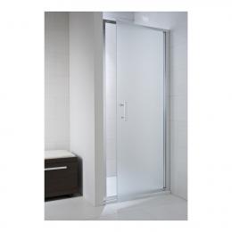 CUBITO pure Viensegmentės dušo durelės 80 x 195 cm, arktinis stiklas, sidabrinis profilis