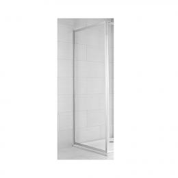 CUBITO pure Stacionari dušo sienelė 90 x 195 cm, arktinis stiklas, sidabrinis profilis, kairė/dešinė