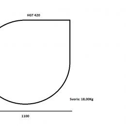 """Grūdintas stiklas """"LAŠAS"""" po židiniu ar krosnele 6mm, šlifuotais kraštais 1100x1100"""