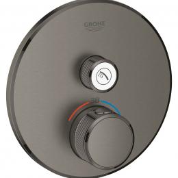 Virštinkinė dušo maišytuvo dalis Grohtherm Smartcontrol, 1 padėtis, grafito spalva