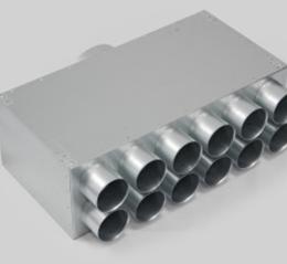 Akustiškai izoliuotas oro paskirstymo kolektorius 12 atšakų L-300mm