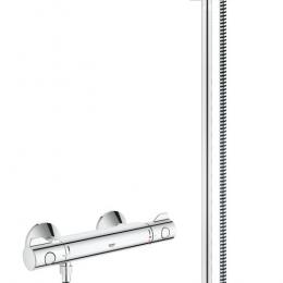 Grohtherm 800 termostatinis maišytuvas dušui su dušo komplektu New Tempesta, 900 mm