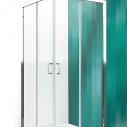 Kvadratinė dušo kabina LLS2 800 su 2 el. slankiojančiomis durimis, stiklas trans., prof. brillant