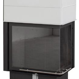 Plieninis židinio ugniakuras Spartherm Global 2Rh 68/48-10,4kW, dešinės pusės pakeliamos durys