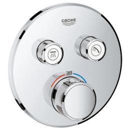 Virštinkinė dušo maišytuvo dalis Grohtherm SmartControl, 2 valdikliai, chromas