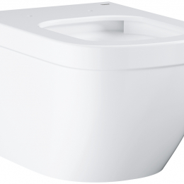 EuroCeramic  pakabinamas WC puodas Rimless,baltas,Triplex nuplovimas (*16vnt/pall)