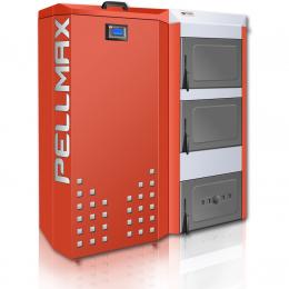 Katilas granulinis PELLMAX 16 kW, bunkerio talpa 300 l