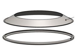 Žiedas gaudikliui-deflektoriui NP d.150 su apkaba (BL)
