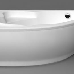 Akmens masės vonios Vispool Lago 149 cm uždanga, dešinė, balta