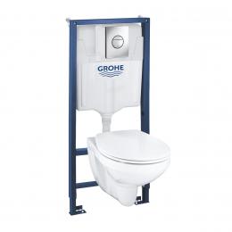 Rėmo 1,13M ir WC puodo BAU -3/6L, su soft close dangčiu, komplektas SOLIDO 4in1 (*16vnt/pall)