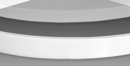 Panelė dušo padėklui FLAT ROUND 900mm, balta