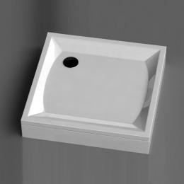 Akmens masės dušo padėklas K-90, 90x90 cm, kvadratinis, baltas