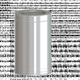 Dvisienis dūmtraukis NPNP (S-0.8mm) d.115/215 L-0.5m