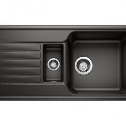 Plautuvė BLANCOFAVOS 6 S, 860x435 mm, juoda spalva