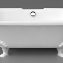Akmens masės vonia Vispool Astoria 1700x765mm, kojos baltos
