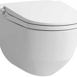 Higieninis pakabinamas unitazas CLEANET RIVA su apiplovimo fukcija, Rimless be nuplovimo lanko, LCC danga, baltas