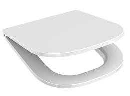 Sėdynė su dangčiu DEEP, antibakterinė, chromuoti lankstai, balta