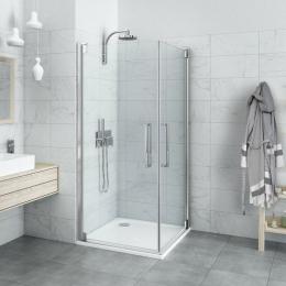 Atveriamos dušo durys Roth HI PI2/900, profilis blizgus, stiklas skaidrus