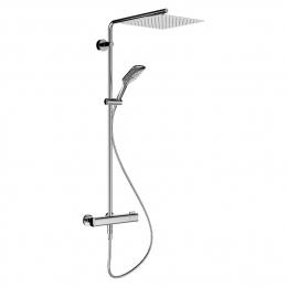 Termostatinis dušo maišytuvas, lietaus gal. 300x300 mm, rankinis dušas MyCity120, chromas