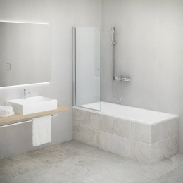 Vonios sienelė TV1 750/1400 LH/Transparent