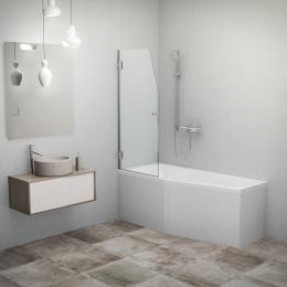Vonios sienelė Screen Mini 635/1400, stiklas skaidrus, profilis blizgus