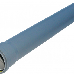 Vidaus kanaliz. vamzdis su mova PP HT 110x1000 mm, pilkas (070263)