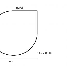 """Grūdintas stiklas """"LAŠAS"""" po židiniu ar krosnele 6mm, šlifuotais kraštais 1250x1250"""